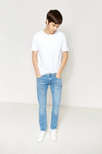 Washed-effect, slim-fit stretch jeans, Light Wash, hi-res