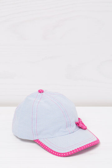 Cotton baseball cap with bow