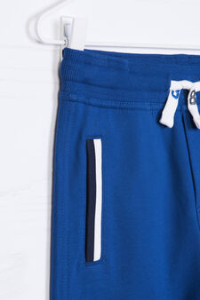 100% cotton joggers with drawstring, Electric Blue, hi-res