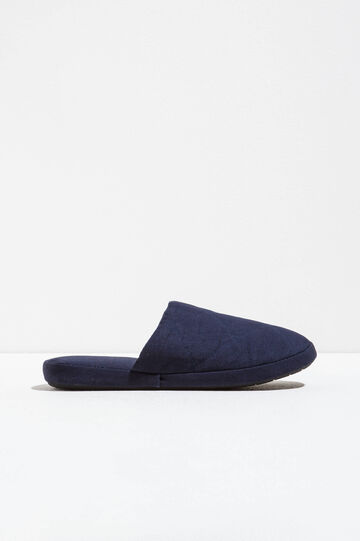 Quilted slippers, Navy Blue, hi-res