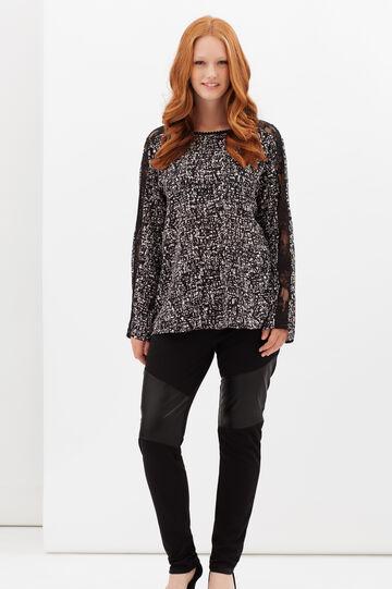 Curvyglam lace blouse, White/Black, hi-res