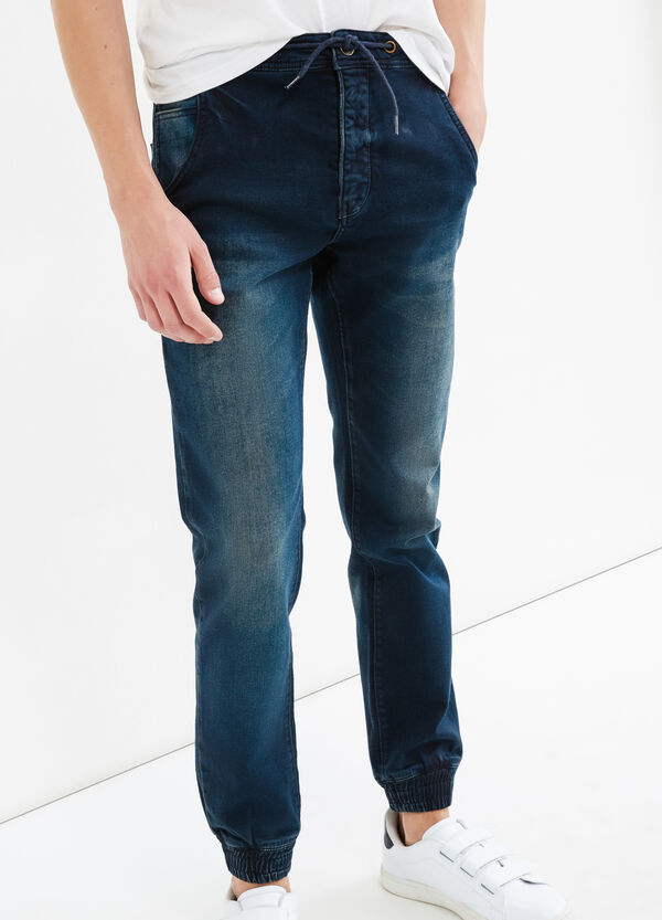 Loose-fit stretch jeans with drawstring | OVS