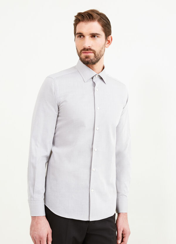 Slim-fit formal shirt with micro pattern | OVS