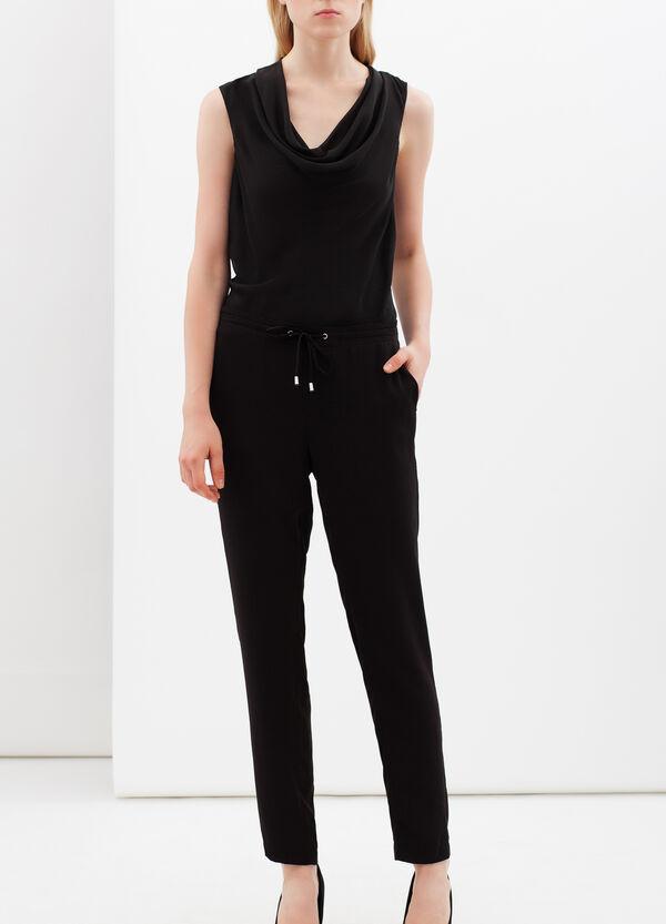 Blouse with drape neckline. | OVS