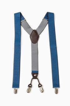 Bretelle regolabili con clip, Blu navy, hi-res