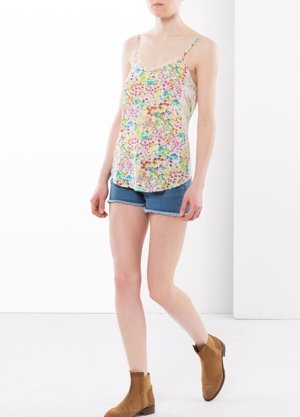 Multi-colour top with lace | OVS