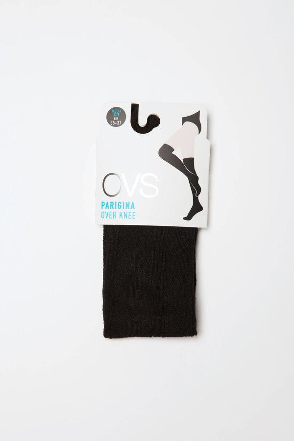 Cotton blend overknee socks. | OVS