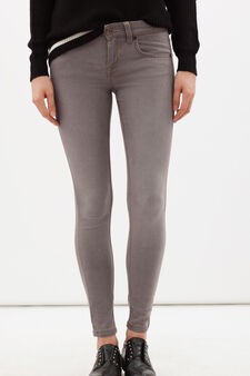 Jeans skinny con cerniera sulle caviglie, Grigio, hi-res