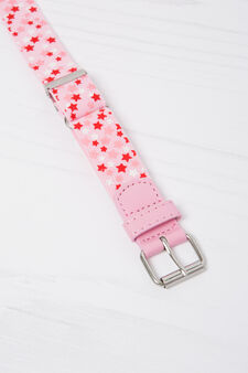 Stretch belt with star pattern, Pink, hi-res