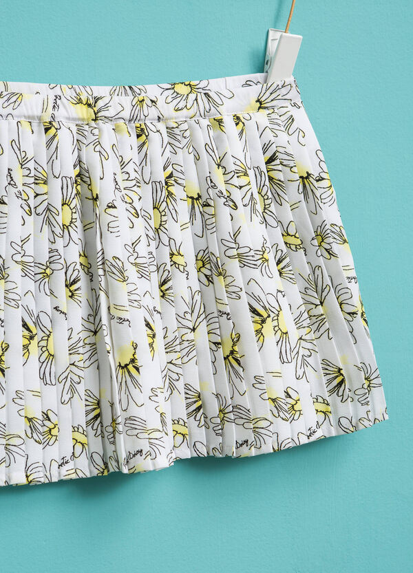 Pleated floral skirt | OVS