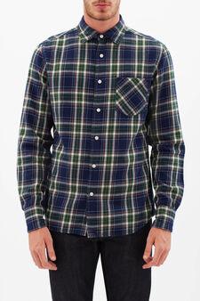 G&H check shirt, Blue/Green, hi-res