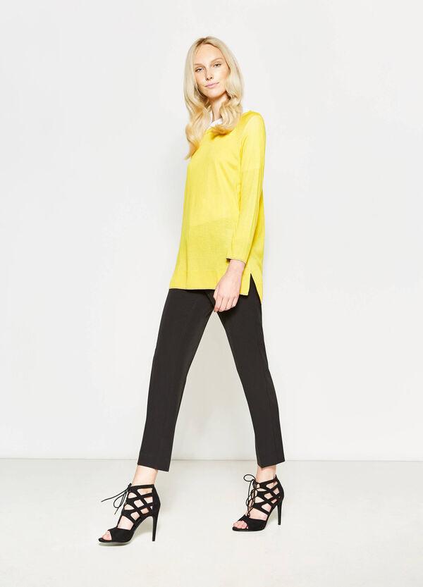Pantalón tobillero de vestir con pliegue | OVS