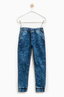 Misdyed stretch jeggings, Denim, hi-res