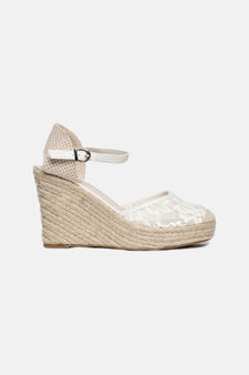 Sandals with lacework upper, Sand, hi-res