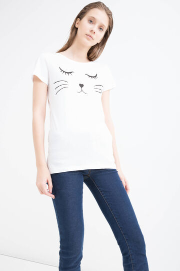 Unicorn print cotton T-shirt