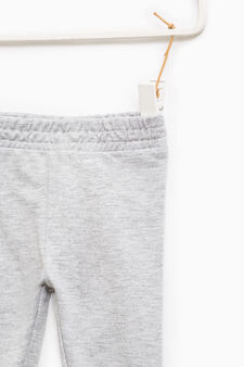 Solid colour cotton blend joggers, Grey, hi-res