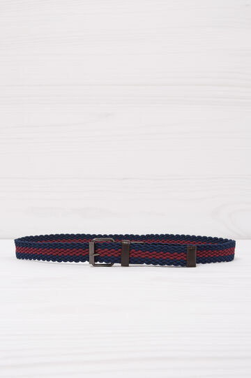 Two-tone woven belt, Blue/Red, hi-res