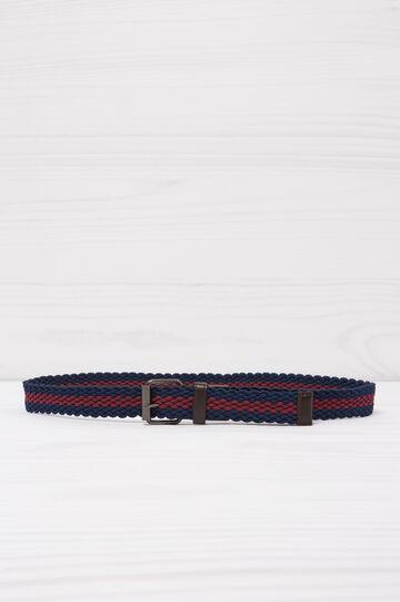 Cintura intrecciata bicolore, Blu/rosso, hi-res