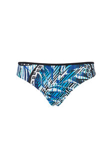 Slip stretch stampa all-over, Blu, hi-res