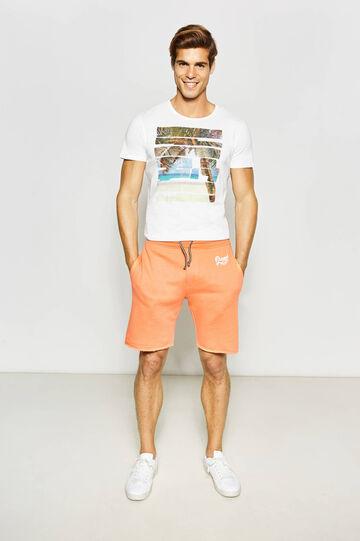 G&H Bermuda shorts with raw-cut hems