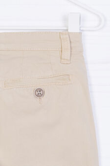 Pantaloni chino cotone stretch, Beige, hi-res