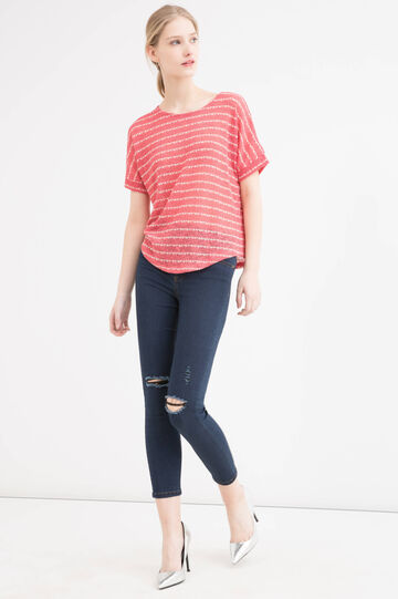 Stretch T-shirt with kimono sleeves, Multicolour, hi-res