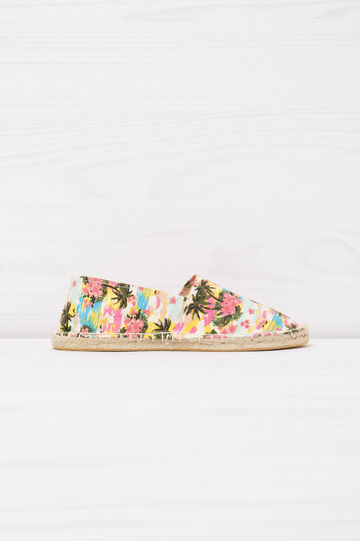Espadrilles with contrasting colour pattern, Multicolour, hi-res
