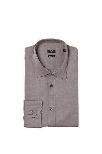 Plain, regular-fit shirt, Light Brown, hi-res