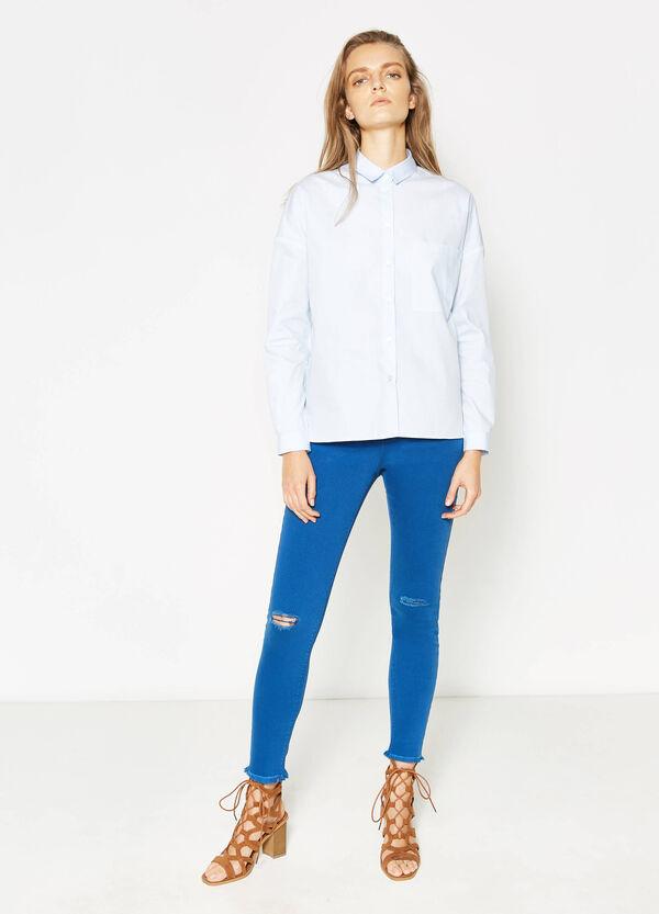 Camisa en algodón 100% con un bolsillo | OVS