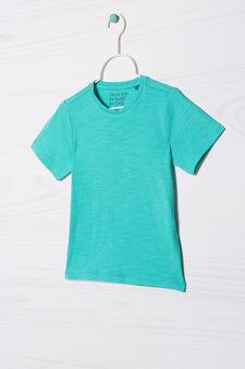 Solid colour 100% cotton T-shirt, Aqua Green, hi-res