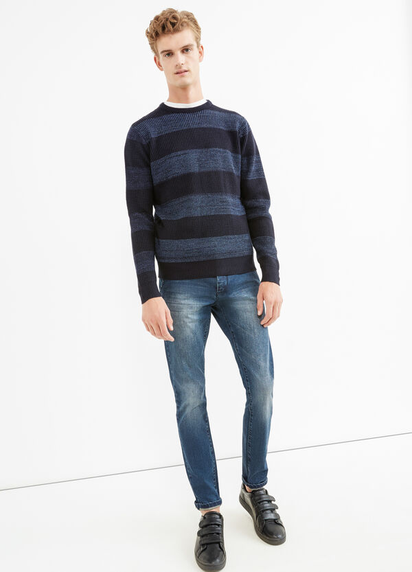 Striped knit pullover | OVS