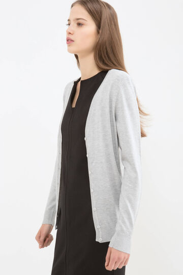 Viscose blend cardigan, Grey, hi-res