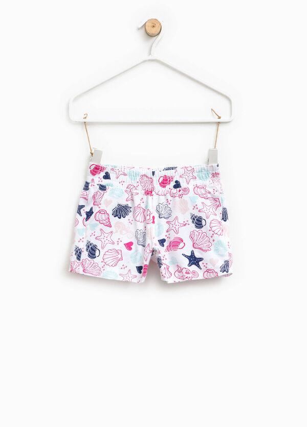 Shorts in cotone stretch fantasia | OVS
