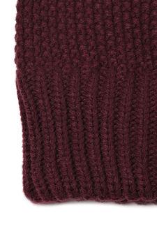 Cappello a cuffia tricot, Viola porpora, hi-res