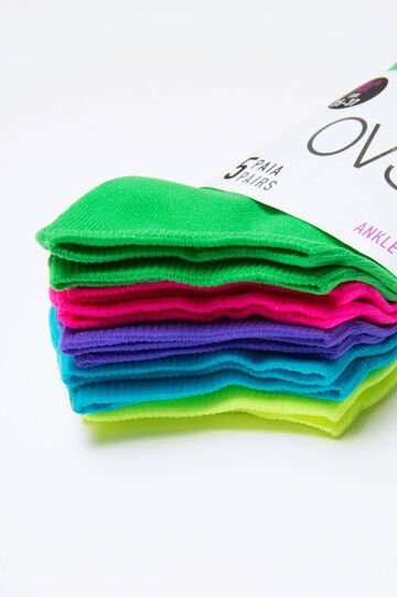 Five-pack cotton socks, Multicolour, hi-res