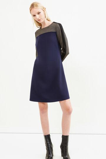 Stretch viscose blend dress, Dark Blue, hi-res