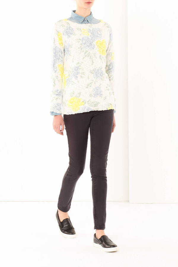 Sweater with a floral print | OVS