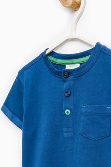 Layered top in 100% cotton, Blue/Green, hi-res