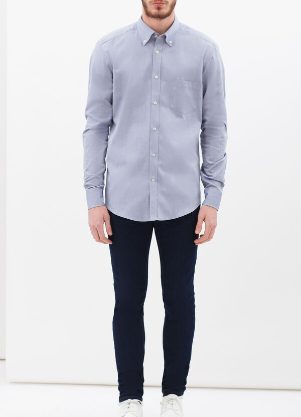 Slim-fit shirt with pocket | OVS