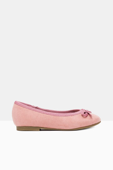 Ballerina pumps with bow, Pink, hi-res
