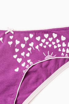 Stretch cotton printed briefs, Royal Purple, hi-res