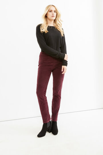 Jeggings stretch Curvy, Viola melanzana, hi-res