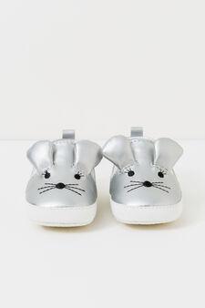 Animal pattern slip-ons, Light silver grey, hi-res