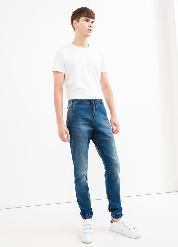 Jeans loose fit stretch con coulisse | OVS