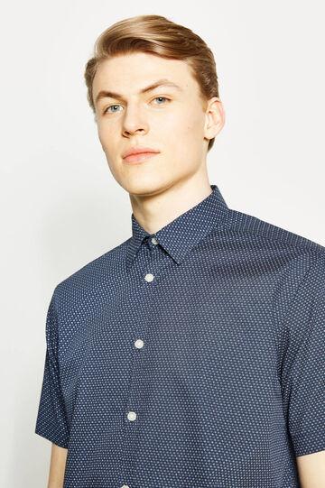 Regular-fit formal patterned shirt