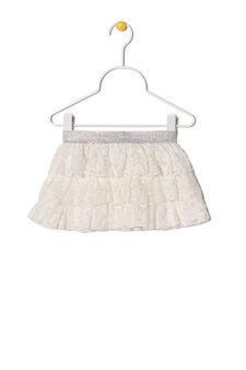 Flounced skirt, Milky White, hi-res