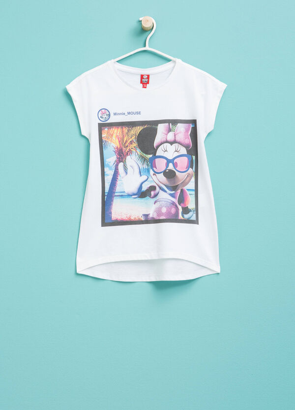 T-shirt in cotone con stampa Minnie | OVS
