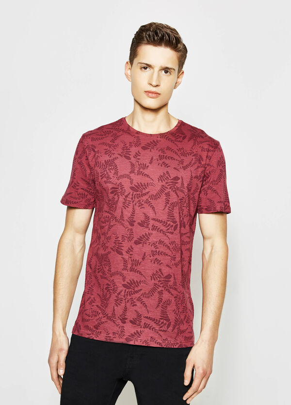 Patterned T-shirt in 100% cotton | OVS