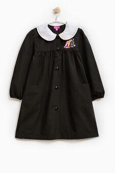 Cotton smock with Rapunzel patch, Black, hi-res