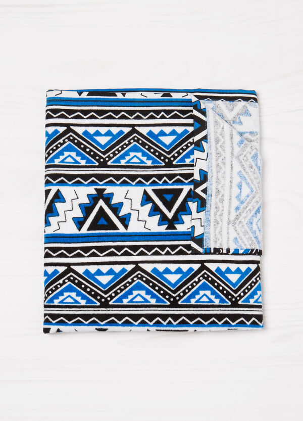 Cotton beach towel with pattern | OVS